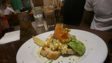 Smoked Salmon, Scrambled Eggs & Avocado on Sourdough Toast